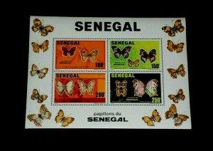 TOPICAL, BUTTERFLIES, 1982, SENEGAL #559 S/S, MNH, LOT #21, NICE,LQQK
