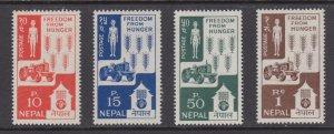 Nepal     #159-62   mnh      cat $7.30