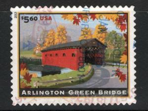 4738 Arlington Green Bridge Used Postage Single Off Paper FREE SHIPPING
