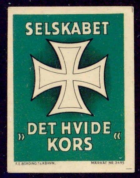 Denmark - White Cross Anti-Narcotic Society Poster Stamp