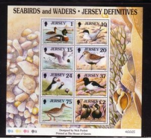 Jersey Sc 785a 1997 Seabirds & Waders stamp sheet mint NH