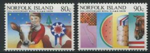 125th ANNIVERSARY OF THE ROYAL NORFOLK ISLAND SHOW 1985 - MNH SET TWO (BL374-RR)