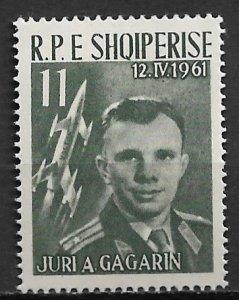 1962 Albania #606  11l First Man in Space/ Yuri Gagarin MNH