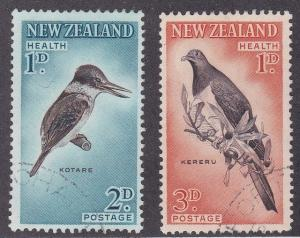 New Zealand # B59-60, Birds - Kingfisher & Pigeon, Used Set
