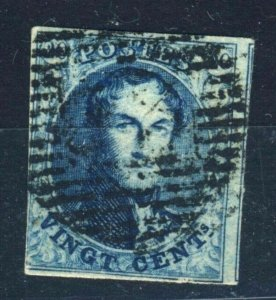 2x 1850 Belgium Leopold I stamp #13a & 14a used Cat. Value $162.00 US$ 4x SCANS