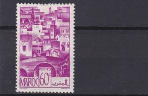 FRENCH COLONIES MORROCO 1947   60C  BRIGHT PURPLE    MH