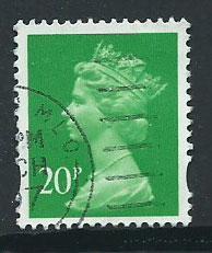 GB Machin 20p QE II  SG Y1685 Fine Used