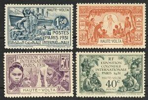 Upper Volta #66-69 MLH CV$19.00 Colonial Expo