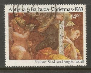 ANTIGUA & BARBUDA  734  USED, RAPHAEL PAINTINGS, SYBYLS ANS ANGELS