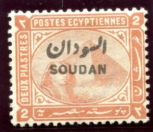 Sudan 1897 QV 2p orange-brown MLH. SG 7. Sc 6.
