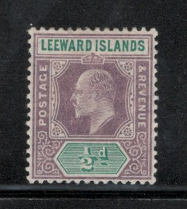 Leeward Islands 1906 King Edward VII 1/2p Scott # 29 MH