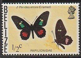 1974 Belize - Sc 345 - used VF - Butterflies - Parides Arcas