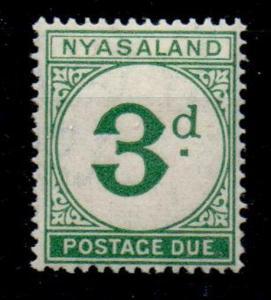 NYASALAND SGD3 1950 3d GREEN POSTAGE DUE MNH