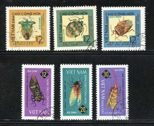 Vietnam Used 360-5 Insects 1965