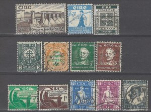 COLLECTION LOT # 3562 IRELAND 12 STAMPS 1930 CV+$20