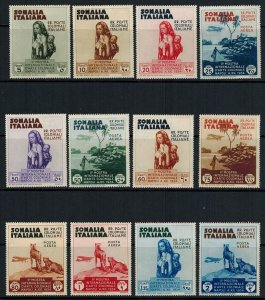 Italian Somalia 1934 Complete Set 12 with Airmails MLH