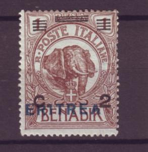J21221 Jlstamps 1924 eritrea mh #81 elephant ovpt