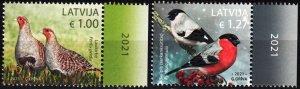 LATVIA 2021-12 FAUNA: Birds, MNH