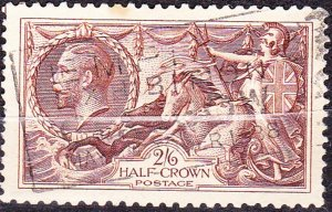 GREAT BRITAIN 1934 KGV 2s/6d.Chocolate-Brown  SEAHORSES 1934 SG450 Excellent ...