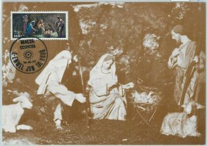 90236 - MALTA  - Postal History - MAXIMUM CARD - ART Religion XMAS  1977