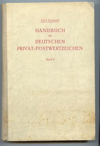 Germany Handbook of City stamps, Carl Schmidt, 1943, hardcover, 327 p. Vol. II
