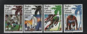 Turks & Caicos Islands 747-750 (4) Set, Hinged, 1988 Summer Olympics