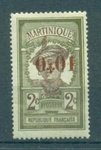 Martinique sc# 114 mh cat value $3.25