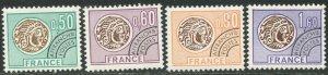 FRANCE Sc#1460-1463 1976 Gallic Coins Pre-Cancels Complete Set OG NH