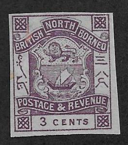 NORTH BORNEO SC# 38 IMPF  FVF/MNG 1887