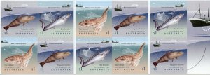 Australia Stamps 2019 MNH Sustainable Fish Fishing Boats Ships 10v S/A Booklet