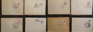 Poland 1976 50c Flower Drawing 8 Covers with Various Comm Special Handstamp PM