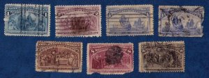 US 1892 Columbian Expo Issue Lot Scott Nos.230,231,233(2ea)And Sc 234.236,237