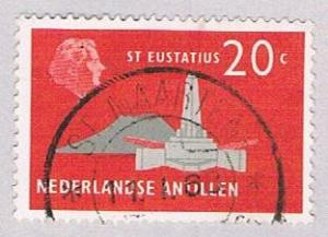 Netherlands Antilles 248 Used Fort Willem 1958 (BP32514)