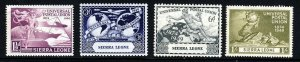 SIERRA LEONE KG VI 1949 U.P.U. 75th. Anniversary Set SG 205 to SG 208 MINT