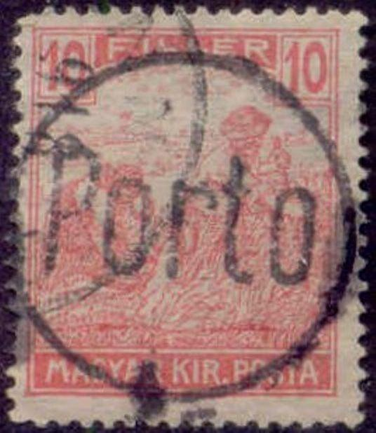 Hungary 1915-8 'PORTO in Circle' Postage Due Overprint on 10f Harvesting Stamp