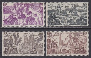 French West Africa Sc #C7-C10 Mint Hinged