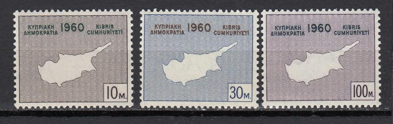 Cyprus - 1960 Independence Sc# 198/200 - MNH (2398)