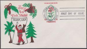 Guam Guard Local Post Christmas FDC Postal Stationery Dec 15 1976