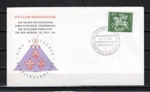 Germany, Scott cat. 823. St. George, Scout issue. First day cover.