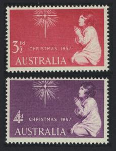 Australia Christmas 2v 1957 MNH SG#298-299