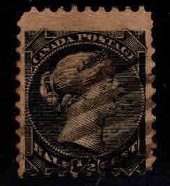 CANADA Scott 34 Used 1/2 cent  Victoria Stamp  CV $1.50