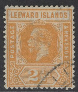 LEEWARD ISLANDS SG66 1923 2½d ORANGE-YELLOW FINE USED