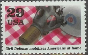2559g WWII  Gas Mask F-VF MNH single