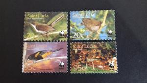 St Lucia 2001 Endangered Species - Birds of St. Lucia Mint