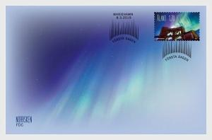 H01 Aland Islands 2019 Aurora Borealis - Northern Lights FDC