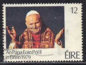 IRELAND   SC# 456 **USED** 12p 1979  POPE   SEE SCAN