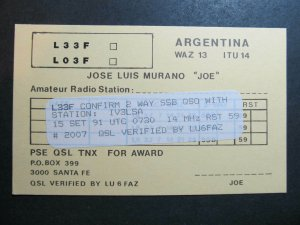 10316 Amateur Radio QSL Card SANTA FE ARGENTINA