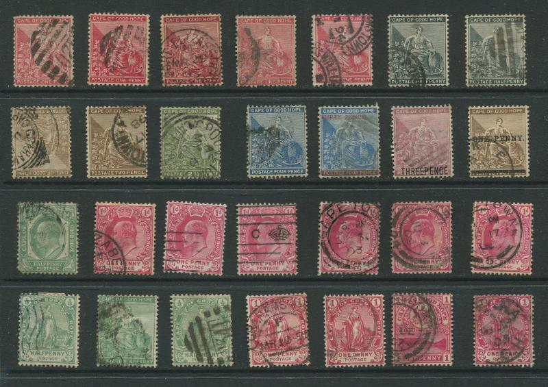 STAMP STATION PERTH Cape of Good Hope  # Selection of 28 stamps Used CV$?