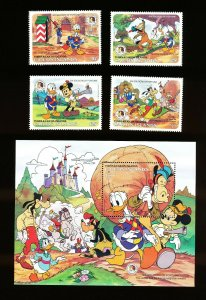 CAICOS ISLANDS - VFMNH - DISNEY - Tom Sawyer & Soldiers of Fortune - two scans