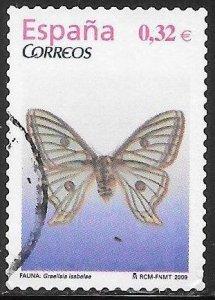 Spain 3655 Used - Floras & Fauna - Spanish Moon Moth (Graellsia isabellae)